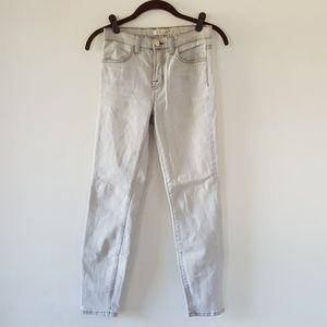 J Brand High Rise Skinny Denim Jeans Silver Sand
